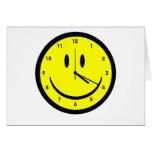 Happy Hippy face clock