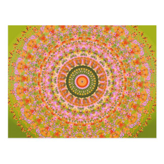 Happy Hippy Mandala Postcard