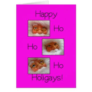 happy ho ho holigays gay x-mas card