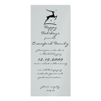 Happy Hoidays 10 Cm X 24 Cm Invitation Card