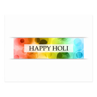 happy holi (bokeh) postcard