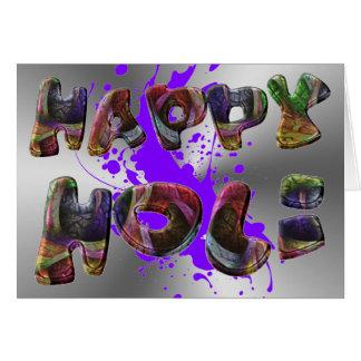 Happy Holi Hindu Spring Festival of Colors Card
