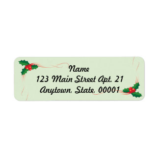 Happy Holiday 2017 Coordinating Mailing Label Return Address Label