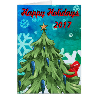 Happy Holiday 2017 Greeting Card