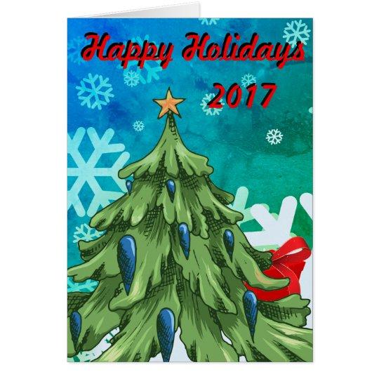 Happy Holiday 2017 Greeting Card
