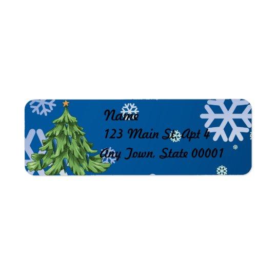Happy Holiday 2017 Return Address Label