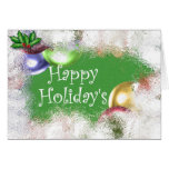 Happy Holiday's Greeting Card