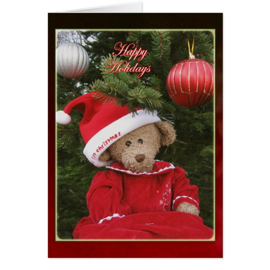 Happy Holiday Bear Card