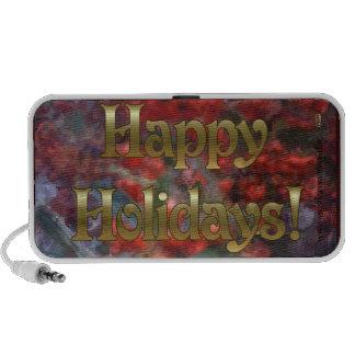 Happy Holiday Berries Notebook Speakers