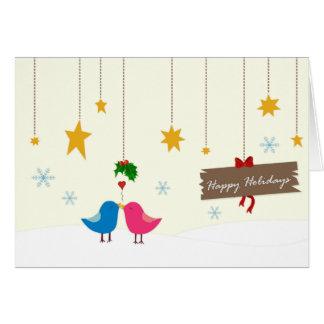 Happy Holiday Birds Greeting Card