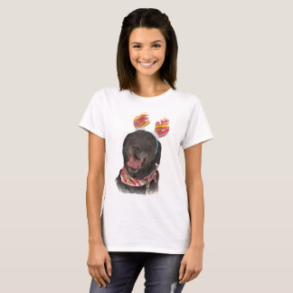 Happy Holiday Black Labrador Retriever Dog T-Shirt