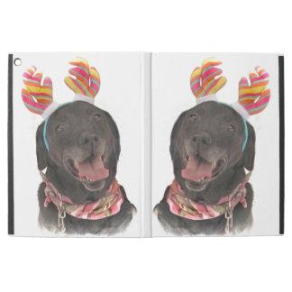 """Happy Holiday Black Labrador Retriever Dogs iPad Pro 12.9"""" Case"""