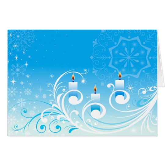 Happy Holiday Candles Card
