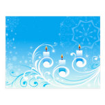 Happy Holiday Candles Postcard