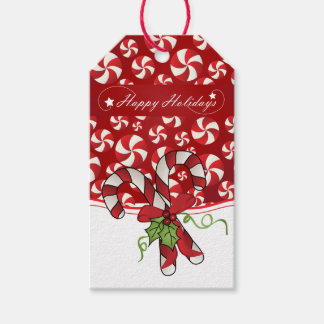 Happy Holiday Candy Canes and Mint Design