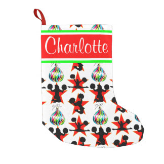 HAPPY HOLIDAY CHEERLEADER PERSONALIZED STOCKING