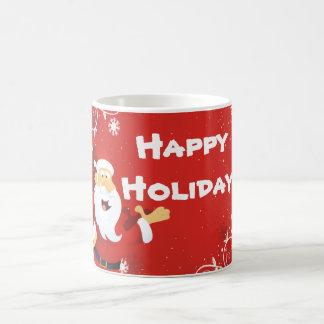 Happy Holiday, Christmas, Mug, white