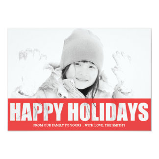 HAPPY HOLIDAY CUT OUT PHOTO CARD 13 CM X 18 CM INVITATION CARD