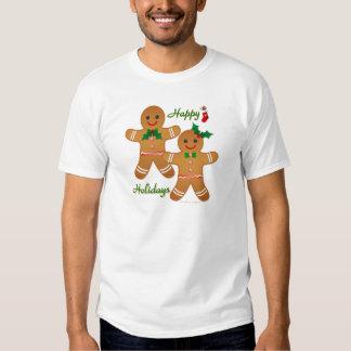 Happy Holiday Gingerbread Man Boy Girl Shirts