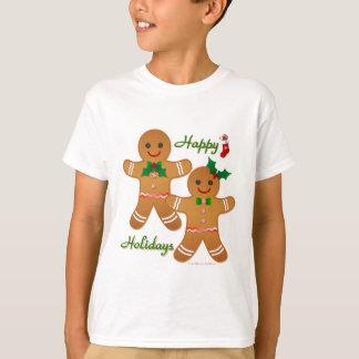 Happy Holiday Gingerbread Man Boy Girl Tee Shirts