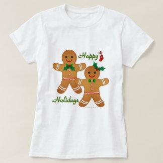 Happy Holiday Gingerbread Man Boy Girl Tshirts