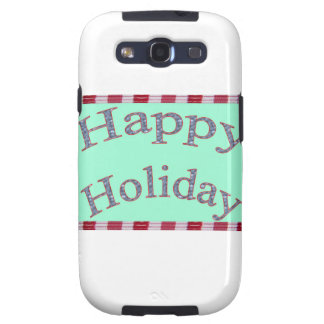 Happy Holiday Images Fash Galaxy S3 Case