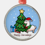 Happy Holiday Llama Ornament