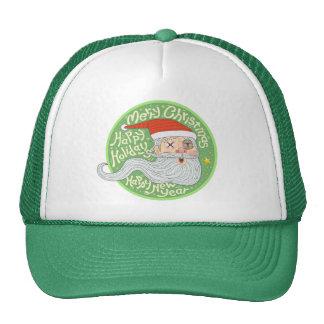 Happy Holiday Merry Christmas New Year Santa Claus Cap