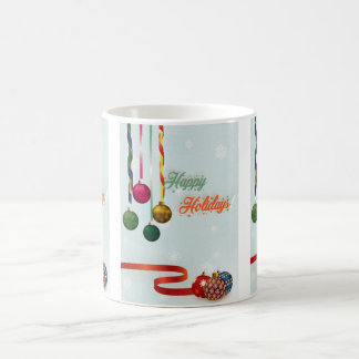 Happy holiday ornaments version 2 coffee mug