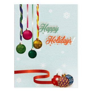 Happy holiday ornaments version 2 postcard