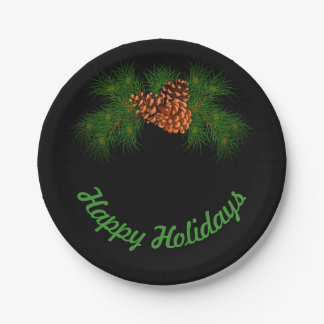 Happy Holiday Paper Plate