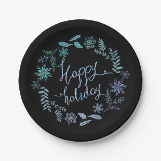 Happy Holiday Paper Plates