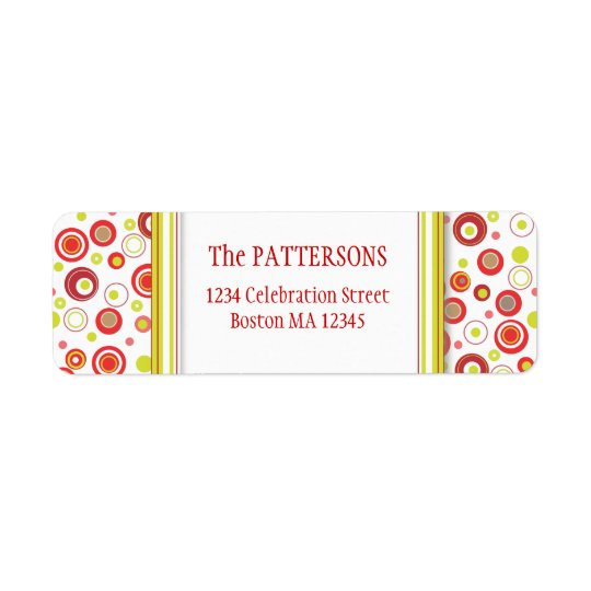 Happy Holiday Polka Dot Red Green Address Labels
