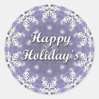 Happy Holiday s Round Sticker