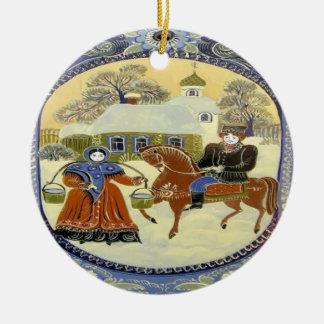 Happy Holiday, Scandinavia Church Christmas Ornament