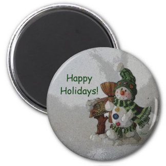 Happy Holiday Snowman Magnet by Janz Magnets