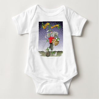 happy holiday soccer fans baby bodysuit