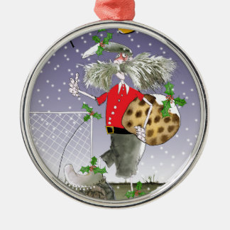 happy holiday soccer fans christmas ornament