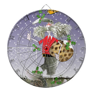 happy holiday soccer fans dartboard