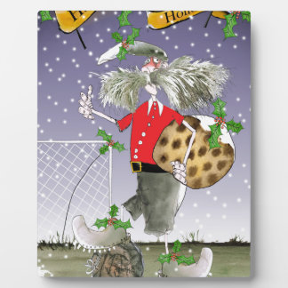 happy holiday soccer fans plaque