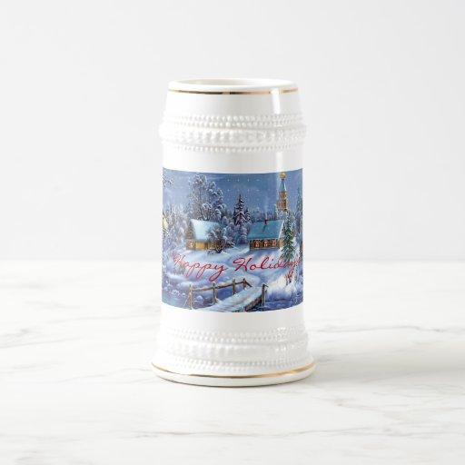 Happy Holiday Stein Coffee Mug