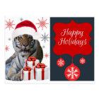 Happy Holiday Tiger Postcard