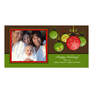 Happy Holiday Unique Christmas Oraments Photo Card
