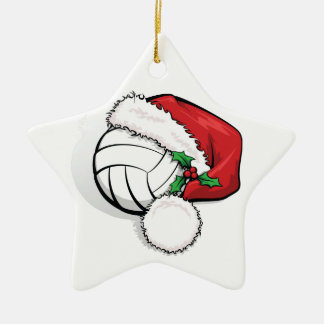 Happy Holiday Volleyball Christmas Ceramic Star Decoration