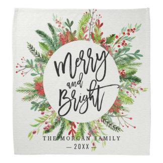 Happy Holiday Wishes Merry Bright Christmas Season Bandana