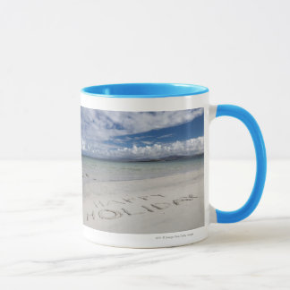 Happy Holiday Written On Eilogarry Beach Mug