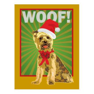 Happy Holiday Yorkie Dog Postcard