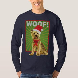 Happy Holiday Yorkie Santa Dog T Shirts