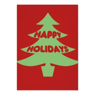 Happy Holidays 13 Cm X 18 Cm Invitation Card