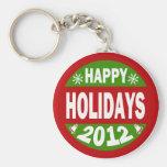 Happy Holidays 2012 Keychains